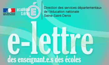 e-lettre des enseignants du premier degré